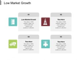 Low Market Growth Ppt Powerpoint Presentation Infographics Background Images Cpb