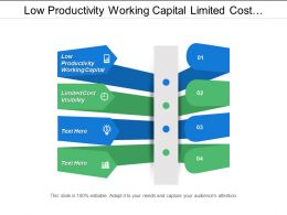 Low Productivity Working Capital Limited Cost Visibility Personal Needs