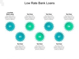 Low Rate Bank Loans Ppt Powerpoint Presentation Visual Aids Gallery Cpb