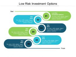 Low Risk Investment Options Ppt Powerpoint Presentation Pictures Infographics Cpb