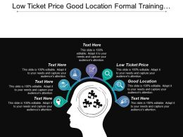 Low Ticket Price Good Location Formal Training Accreditation