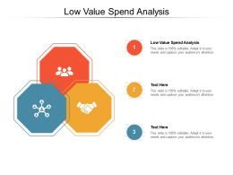 Low Value Spend Analysis Ppt Powerpoint Presentation Infographic Template Good Cpb