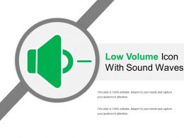 Low Volume Icon With Sound Waves