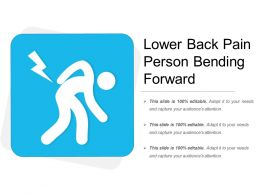 Lower Back Pain Person Bending Forward
