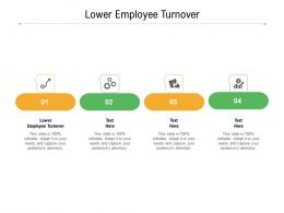 lower employee turnover ppt powerpoint presentation styles rules cpb
