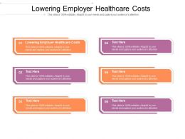 Lowering Employer Healthcare Costs Ppt Powerpoint Presentation File Layouts Cpb