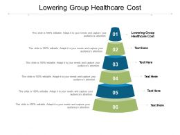 Lowering Group Healthcare Cost Ppt Powerpoint Presentation Slides Format Cpb