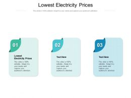 Lowest Electricity Prices Ppt Powerpoint Presentation Model Icon Cpb