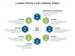 Lowest Home Loan Interest Rates Ppt Infographic Template Deck Cpb