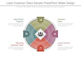 Loyal Customer Client Sample Powerpoint Slides Design