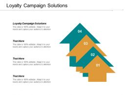 Loyalty Campaign Solutions Ppt Powerpoint Presentation File Structure Cpb