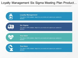 Loyalty Management Six Sigma Meeting Plan Product Life Cycle Cpb