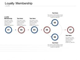 Loyalty Membership Ppt Powerpoint Presentation Show Visual Aids Cpb