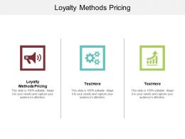 Loyalty Methods Pricing Ppt Powerpoint Presentation Ideas Display Cpb