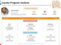 Loyalty Program Analysis Cards File Powerpoint Presentation Example Topics