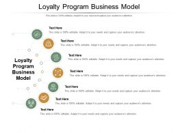 Loyalty Program Business Model Ppt Powerpoint Presentation Summary Shapes Cpb