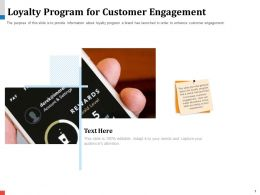 Loyalty Program For Customer Engagement Order Powerpoint Presentation Tips