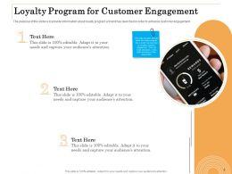 Loyalty Program For Customer Engagement Ppt Pictures Designs