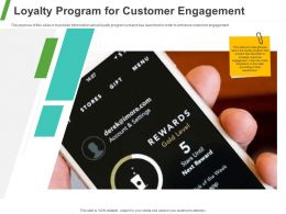 Loyalty Program For Customer Engagement Ppt Powerpoint Presentation Model Structure