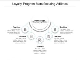 Loyalty Program Manufacturing Affiliates Ppt Powerpoint Presentation Layouts Slide Cpb