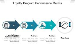 Loyalty Program Performance Metrics Ppt Powerpoint Presentation Infographics Graphics Cpb