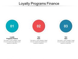 Loyalty Programs Finance Ppt Powerpoint Presentation Outline Designs Cpb