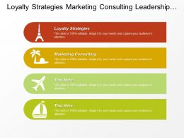 Loyalty Strategies Marketing Consulting Leadership Marketing Sales Presentation