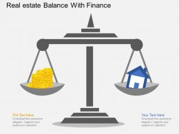 lp Real Estate Balance With Finance Flat Powerpoint Design
