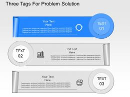 lp Three Tags For Problem Solution Powerpoint Template
