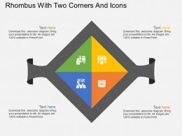 lq Rhombus With Two Corners And Icons Flat Powerpoint Design