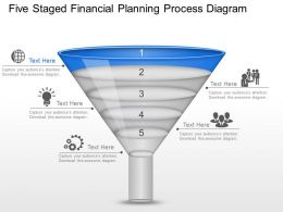 Lr Five Staged Financial Planning Process Diagram Powerpoint Template Slide