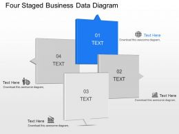 lr Four Staged Business Data Diagram Powerpoint Template