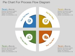 Lr Pie Chart For Process Flow Diagram Flat Powerpoint Design