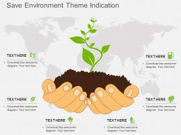 lr Save Environment Theme Indication Flat Powerpoint Design