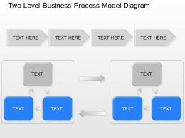 lr Two Level Business Process Model Diagram Powerpoint Template