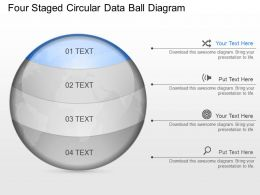 ls Four Staged Circular Data Ball Diagram Powerpoint Template