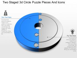 ls Two Staged 3d Circle Puzzle Pieces And Icons Powerpoint Template
