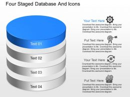 lt Four Staged Database And Icons Powerpoint Template