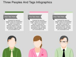 lt Three Peoples And Tags Infographics Flat Powerpoint Design