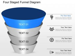 lu Four Staged Funnel Diagram Powerpoint Template