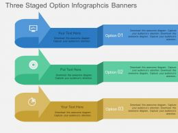lu Three Staged Option Infographcis Banners Flat Powerpoint Design