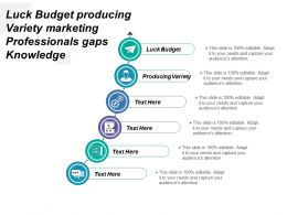 Luck Budget Producing Variety Marketing Professionals Gaps Knowledge