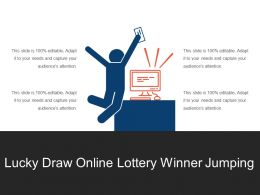 Lucky Draw Online Lottery Winner Jumping