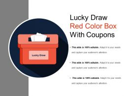 Lucky Draw Red Color Box With Coupons