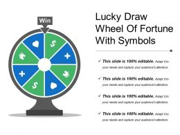 Lucky Draw Wheel Of Fortune With Symbols
