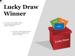 Lucky Draw Winner Good Ppt Example