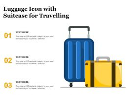 Luggage Icon With Suitcase For Travelling