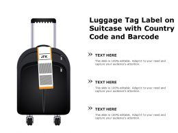 Luggage Tag Label On Suitcase With Country Code And Barcode