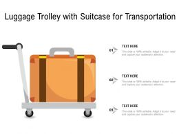 Luggage Trolley With Suitcase For Transportation