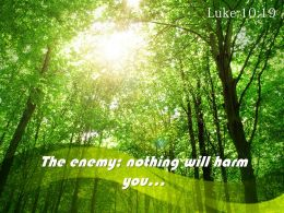 Luke 10 19 The Enemy Nothing Will Harm Powerpoint Church Sermon